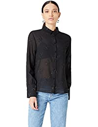 FIND Damen Hemd Metallic Detail