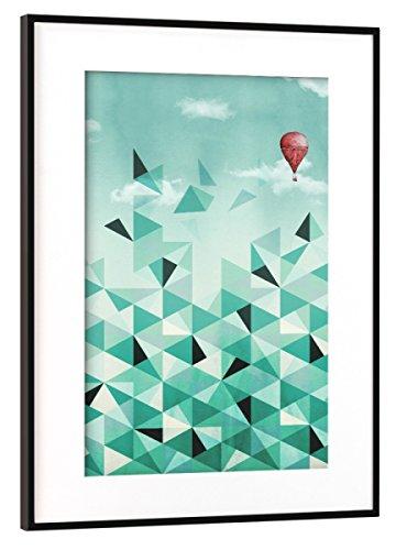 artboxONE Poster mit Rahmen Schwarz (Metallic) 45x30 cm Emerald City (Blue Sky Version) von littleclyde