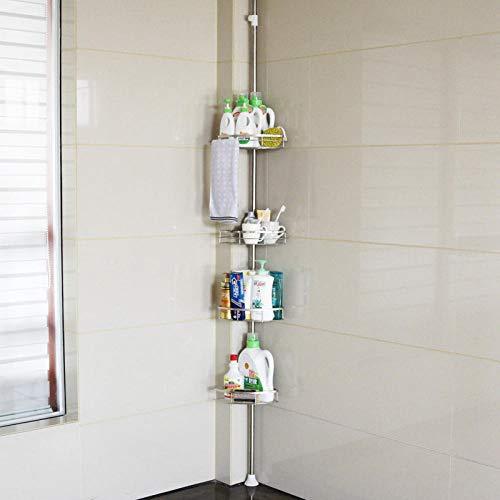 Badezimmer Regal Pferd Bad Eckregal Edelstahl Lagerregal Mehrschicht Handtuchhalter Eckrahmen vier Schichten aus hochwertigem Edelstahl vier Schichten -