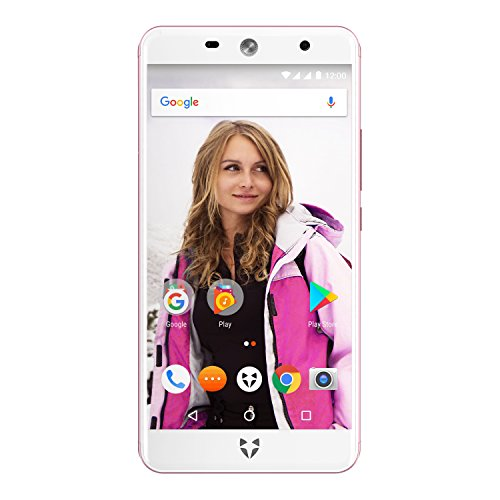 "Wileyfox Swift 2 Plus 32GB with 3GB RAM 5.0"" HD (Dual SIM 4G) SIM-Free Smartphone Android Nougat 7.1.2 - Rose"