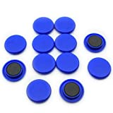 Magnet Expert - Imanes de sujeción (40 x 8mm, 12 unidades), color azul