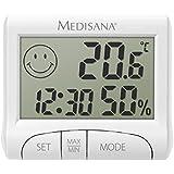 Medisana HG 100 Digital Thermo-Hygrometer (Anzeige von Luftfeuchtigkeit, Raumtemperatur, Uhrzeit, Komfortzonen Indikator)