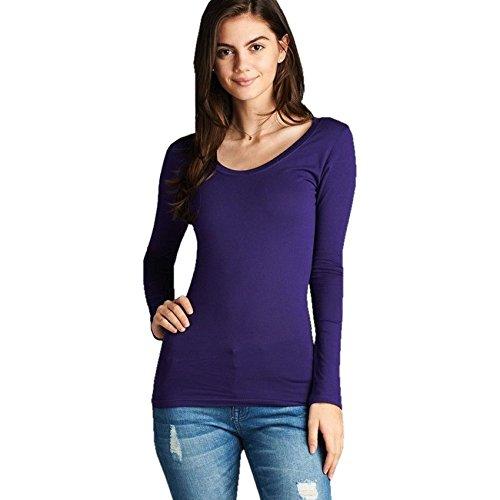 SA Fashions Maglia a Manica Lunga - Donna Purple