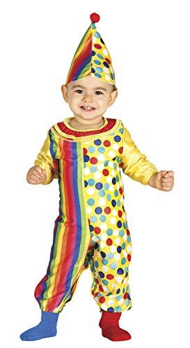 Guirca-85972 Costume da Pagliaccio Neonato 12/24 Mesi, Multicolore, U, 85972.0