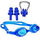 #7: Body Maxx Swimming Goggles With Ear Plugs & Nose Clip Set