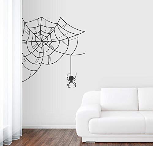 or Decals Black Widow Spiderweb Wandtattoo Vinyl Wandaufkleber Wohnzimmer Removalbe Starken Klebstoff Z 58x58 cm ()