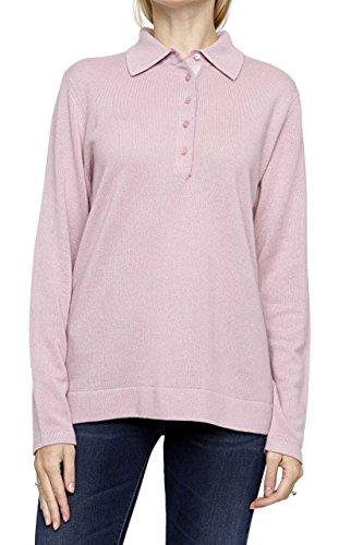 Lai La New York Damen Pullover 100% Kaschmir BARBARA Pure Cashmere , Farbe: Rosa, Größe: 44 (New York-kaschmir-pullover)