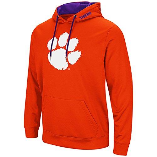 Colosseum NCAA-Elite Zone Herren Kapuzenpullover Sweatshirt, Herren, Clemson Tigers-Orange, Medium -