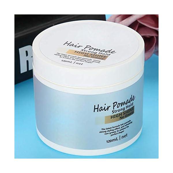 Cera para el cabello, Estilo de pelo brillante para hombres, Aditamento extra fuerte con efecto mojado modelado definido…