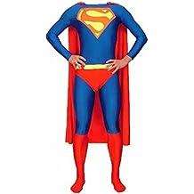 Zentai Animal - Disfraz unisex para adulto (material: lycra y elastano, incluye capa), diseño de Superman - XL
