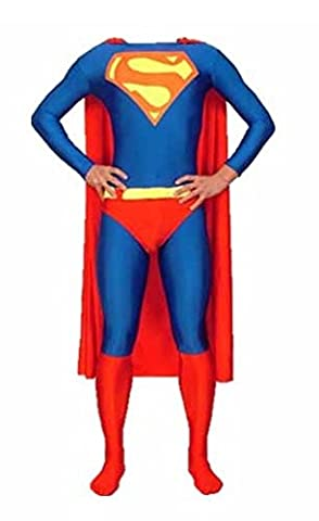 EyeCandy UK Costume Morphsuit Superman & Cape pour adulte Unisexe homme et femme Zentai Animal Cosplay Déguisement Halloween Halloween Lycra Spandex Pas cher - grand