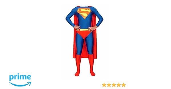 LICENSED SUPER HERO SUPERMAN MORPH 2ND SKIN SUIT ZENTAI HALLOWEEN COSTUME
