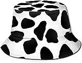 Holuday Cow Crazy Faux Boston Terrier Fisherman Bucket Sun Hat