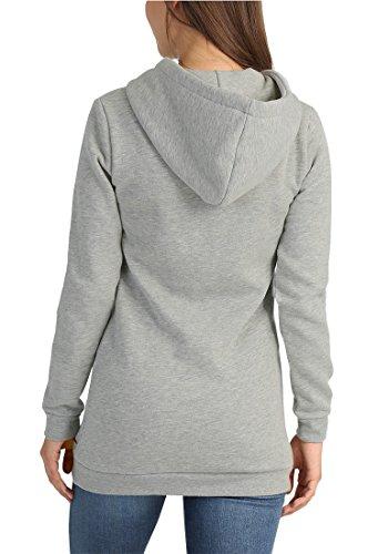 DESIRES Derby Hood Long Damen Kapuzenpullover Light Grey Mel