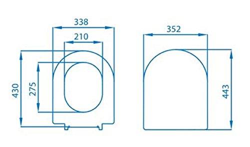 Sedile copriwater termoindurente non originale compatibile pozzi ginori serie ceramica ydra chiusura rallentata soft close asse-wc bianco