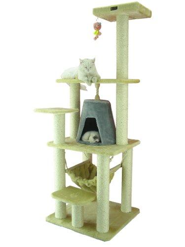 ARMARKAT Kratzbaum AC6501B mit Aussichtsplattform und Katzenhöhle stabil und schick