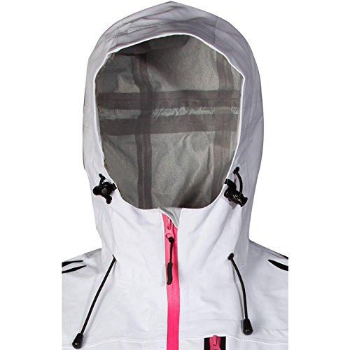Cox Swain Damen 3 Lagen Titanium Funktions/Hardshelljacke Kabru 8.000 Wassersäule 5.000 Atmungsakt, Colour: White/Pink, Size: XS - 3
