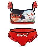 Miraculous LadyBug Cat Noir - Bikini zweiteiligen Badeanzug für Mädchen - SE19XX [Rot - 5 Jahre - 110 cm]