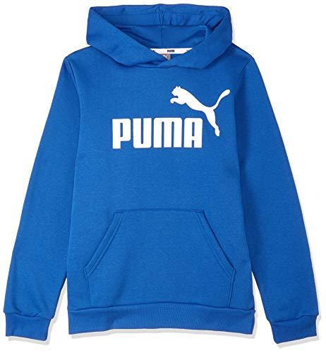 PUMA Jungen ESS Logo FL B Pullover Ess Logo Hoody Fl B-852105, Galaxy Blue, 164 (Herstellergröße: 14 ans)