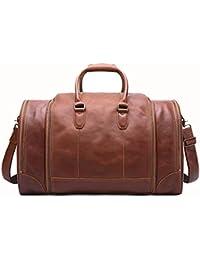 1422d2692 Bolsa de Viaje Bolso de Viaje para Hombres Bolso de Cuero para Hombres  Bolso de Cuero