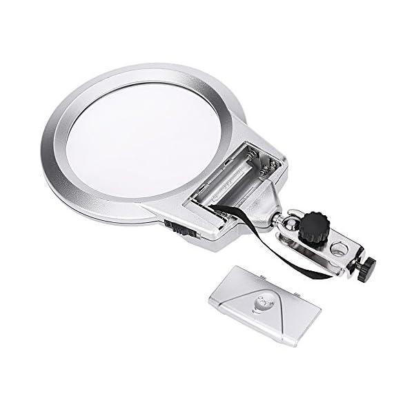 KKmoon Lupa de escritorio de soldadura multifuncional con clip de cocodrilo