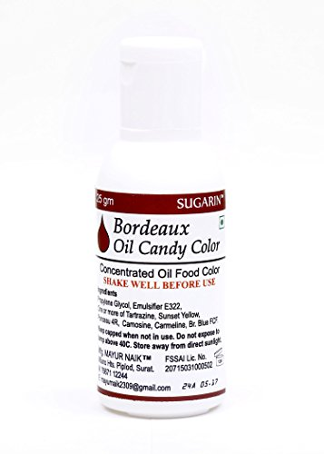 Sugarin Oil Candy Color For White Chocolate & Oil Based Products, Bordeaux, 25 Gram