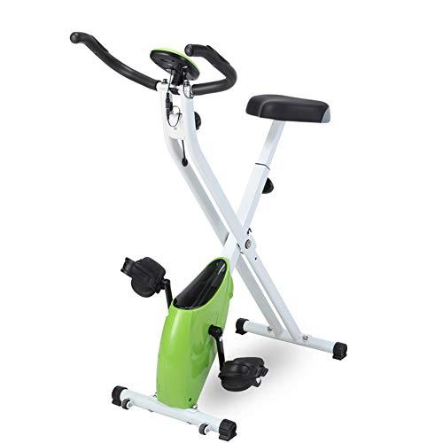 HLeoz Bicicleta Estática, Plegable Bicicleta Spinning Exercise Bike Resistencia Variable Ruido Bajo...