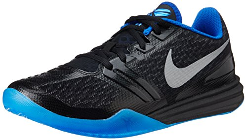 nike KB kobe mentalità scarpe ginnastica pallacanestro 704942 scarpe da tennis, Black/Metallic Silver-GM Royal-Photo Blue, uk 9 us 10 e 44