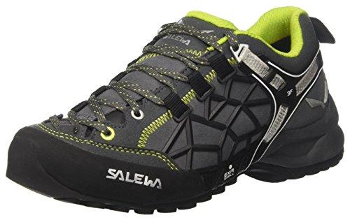Salewa Un Wildfire Pro, Chaussures d'Escalade Mixte Adulte Multicolore (Carbon/green)