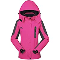 GIVBRO Impermeable Chubasquero Mujer Softshell Chaqueta para Exteriores Sport diseño Funktions Transpirable con Capucha Camping Hiking Chaqueta, Mujer, Rosa