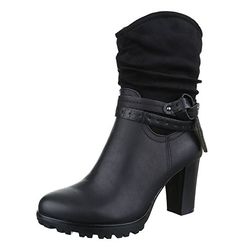 Ital-design - Bottes Western Noires Pour Femmes