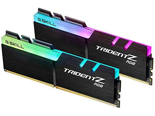 Memoria PC-G. Skill Trident Z RGB 16GB (2x 8GB) DDR43000mhz CL14-Kit Dual Channel 2Barrette Di Ram DDR4PC4-24000-F4-3000C14d-16gtzr con LED RGB (garanzia 10anni per G. Skill)