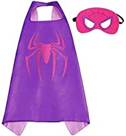 Double sided Kids Spiderman Top Costume with mask and cape, 4-8 years Kids Boys Parties Festival Batman Costum