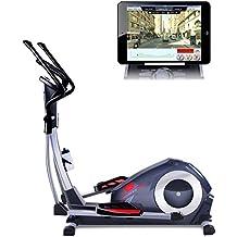 Sportstech CX620 Vélo elliptique ergomètre professionnel Fitness avec contrôle de Smartphone App + Google Street View, Masse d'inertie 21 KG, HRC - Bluetooth - 32 niveaux de résistance - hometrainer stepper