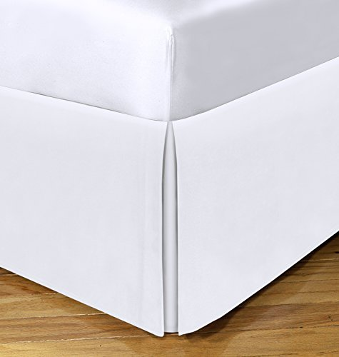 Today's Home Basic Cotton Rich 200TC Tailored 14 Bedskirt, California King, White by TodaysHome -