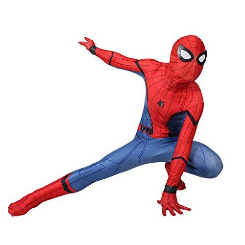 Kostüm Alle Gekleidet - Marvel Spiderman Overalls Halloween Kostüm Erwachsene Body Für Herren Anime Cosplay Spiele Onesies All-Inclusive Lycra Strumpfhosen Kleidung,Rot,M