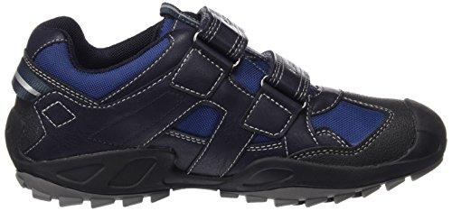 Geox J New Savage Boy B Abx B, Chaussures avec Fermeture Velcro Garçon Blau (NAVY/GREYC0661)