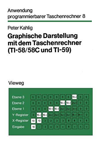 Graphische Darstellung mit dem Taschenrechner ( TI- 58/58 C und TI-59). Mit 88 Programmen, 26 Beispielen