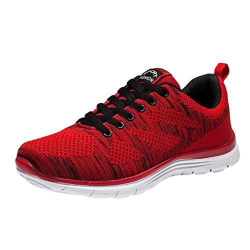 Fascino-M Sportschuhe Laufschuhe Fitness Leicht rutschfeste Turnschuhe für Herren Damen Sportschuhe Sneaker - Sketcher Rosa Go Walk