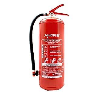 ANDRIS® 12kg ABC Pulverlöscher 15 LE Feuerlöscher mit Manometer DIN EN3, Löschmittel:ABC Pulver