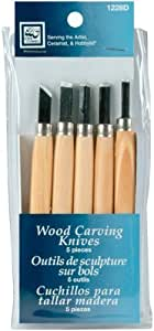 Loew-cornell wood carving 5 couteaux-count by loew-cornell