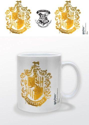 Harry Potter Hufflepuff Stencil Crest Taza de cerámica en caja de presentación
