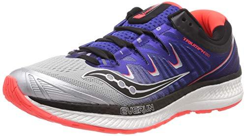 Saucony Triumph ISO 4, Chaussures de course pour homme, argenté (argent / bleu / Xizram X), 35 EU