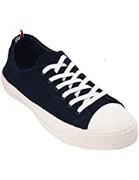 Eaton And Burke Women's Navy And Black PU Sneakers