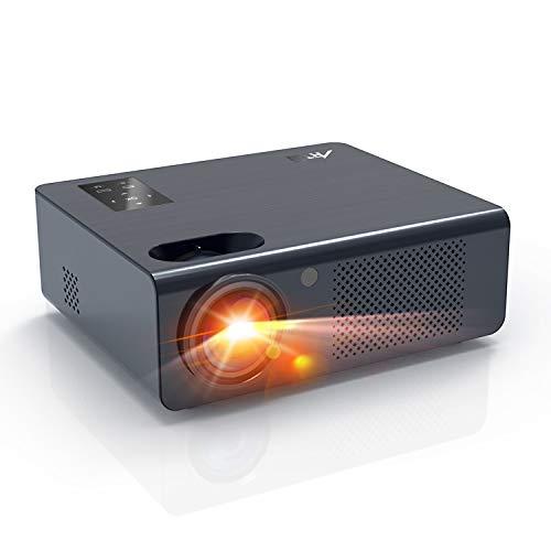Beamer - Artlii Energon Heimkino Beamer mit Zoomfunktion HD Video Projektor 1080p Unterstützung Kompatibel mit TV-Stick, Chromecast, Smartphone, Laptops, PS4 Für Netflix Video/Film Unterhaltung Spiele - Mpeg4 Digital Video