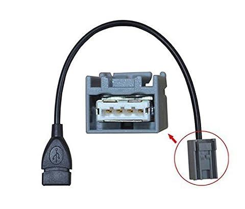 Eximtrade USB Female AUX Audio Câble Adaptateur pour Honda Civic
