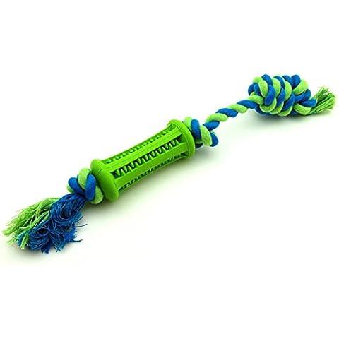 cane giocattoli pulizia dei denti, anche la corda di cotone duro da masticare molari durevole non tossico giocattoli da compagnia , 12.0cm