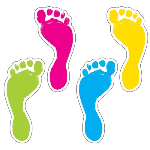 Footprints Colorful Cut-Outs