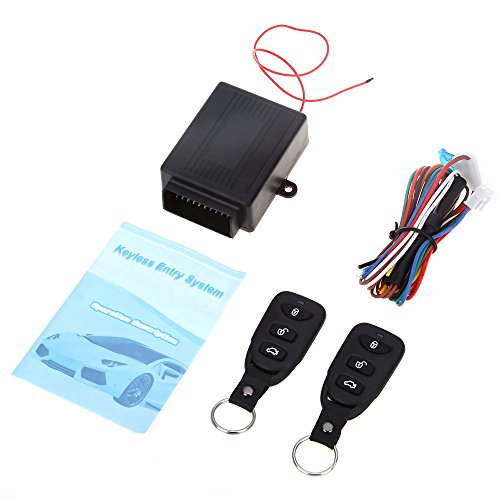Wireless-keyless-entry-system (HYXT Keyless Entry System Portable Wireless Universal Auto Fernbedienung Auto Fahrzeug Remote Central Kit Geeignet für Alle Arten von Fahrzeugen)