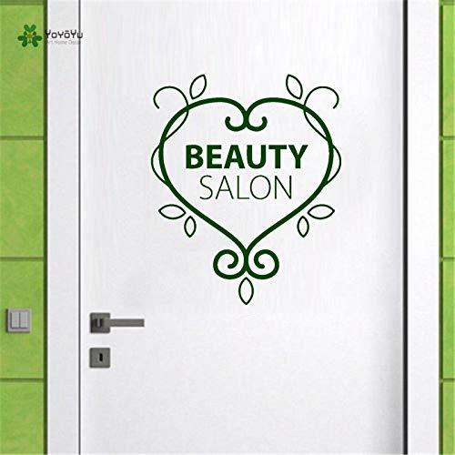 zhuziji Wandtattoo Beauty Salon Logo Muster Spa Frau Aufkleber Abnehmbare Wandaufkleber Spezielles Design Fenster Hohe Qualität 57x68cm